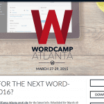 WordCamp Atlanta Event Website